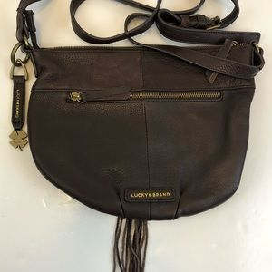 Lucky Brand Crossbody Brown Leather Tassel